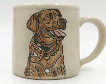 Made to Order - Custom Personalized Pet Portrait Mug