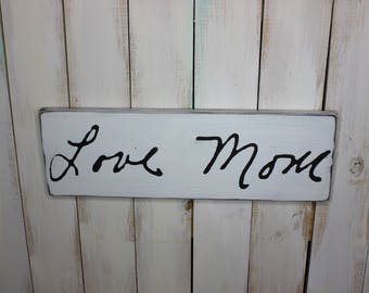 Handwriting Sign- Custom Memorial Sign- Handwriting Decor- Personalized Handwriting Sign- Handwriting Plaque- Valentines Day Gift Ideas