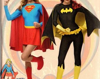 Dc Comics SUPER GIRL v BATGIRL Simplicity Pattern 1036 Misses 6 8 10 12 14