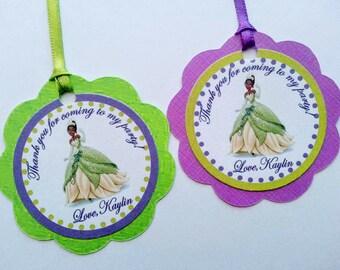 Tiana,The Princess and the Frog Favor Tags