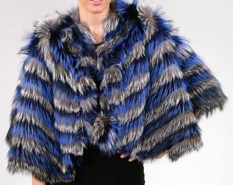 Real fur Canadian  | Light weight fox fur cape