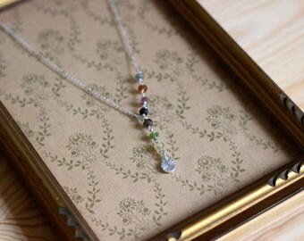 STAN necklace Silver 925 and tourmaline stones