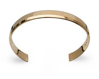 EVOSY Uni-Bracelet Contemporary Simple Gold Cuff