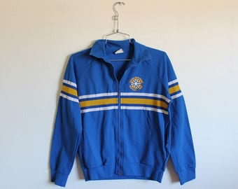 Vintage SMALL (Adult 5) 1985 New York City Empire State Games Buffalo Jersey Zip Up Sweatshirt