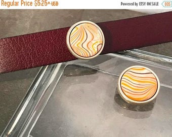 On Sale NOW 25%OFF Beautiful Shell Slider Bead For 20mm Flat Leather Cords - Your Metal Choice - Z4319 - Qty 1