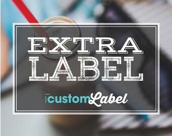 1- xtra label/ 1 Extra Bag