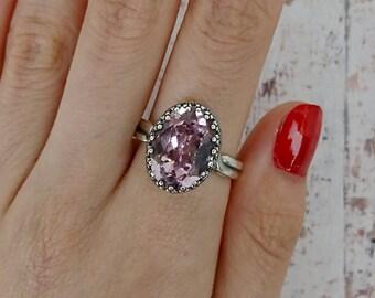 Elizabeth Large Stone Swarovski Crystal Ring