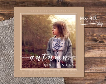 Photography Autumn Mini Session Template for Photographers 5x5, White