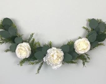 Flower garland, bohemian flower garland, floral wall hanging, chair garland, floral garland, highchair banner