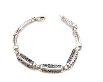 Sterling Silver Plaque Bracelet