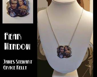 """Classic Hollywood Lovers Necklace ~ """"Rear Window"""" Jimmy Stewart & Grace Kelly"""