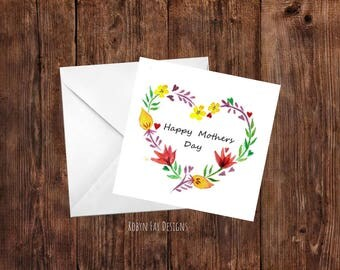 Heart Mothers Day Card