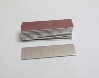 18 gauge Rectangle blanks 1/2 x 2 -Metal blanks - rectangle blanks - hand stamping blanks - id bracelet blanks