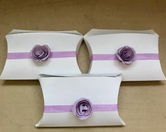 Decorative Pillow Box Favor Box for weddings, receptions, bridal showers, baby showers, birthday parties