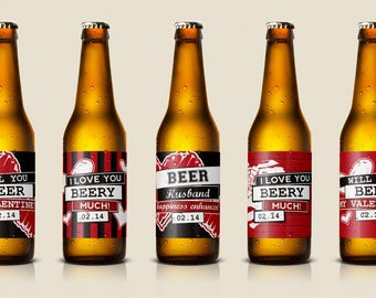 It's just a picture of Exhilarating Free Printable Valentine Beer Labels