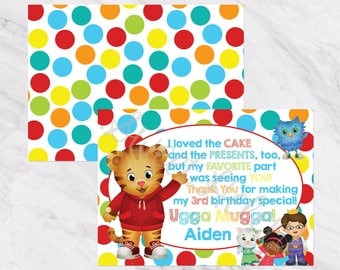 Daniel Tiger Birthday Thank You Notes -Thank You Cards - Daniel Tiger's Neighborhood Party