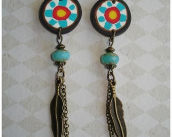 Native American inspired earrings