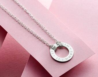 Roman Numeral Circle Necklace