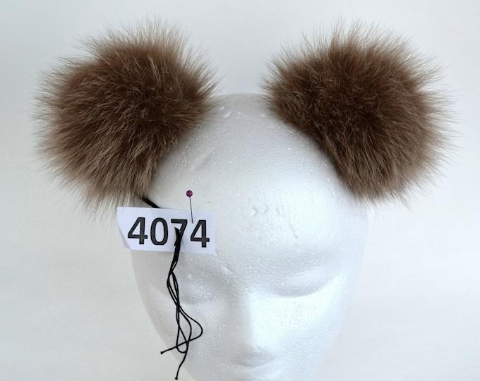 """5,5"""" FOX FUR Pom Pom- Double! Fur Pom Pom, Real Fox Fur, Brown Fox Pom Pom, Double Pom Pom, Fox Pom Pom, Pom Pom Ears, Hat, Child, Beanie"""