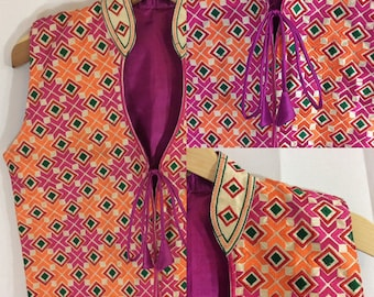 1960s INDIAN PSYCHEDELIC Waistcoat