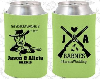 Shotgun Wedding Gift,Unique Wedding Gift, Country Wedding Gift, Southern Wedding Gift, Redneck Wedding Gift, Custom Coolies (563)