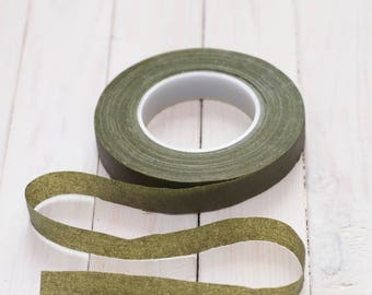 Stretch tape moss green 1/2 (12.5mm)