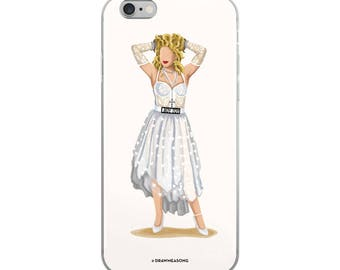 Madonna Like a Virgin iPhone 5/5s/Se, 6/6s, 6/6s Plus Case, Future is Female, Feminist Gift for Her, Who Run the World, Girlboss Fun Pop Art
