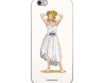 Madonna Like a Virgin iPhone 5/5s/Se, 6/6s, 6/6s Plus Case, Future is Female, Feminist Gift for Her, Who Run the World, Girlboss Fun Pop Art