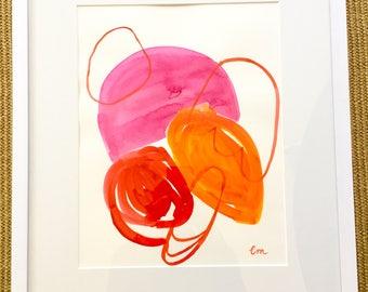 Original art, abstract, Framed