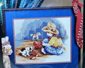 Bucilla  Little Buckaroo Needlepoint kit 4665 Vintage 1992