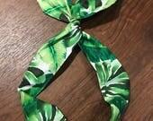 Green Palms Wire Twist Headband