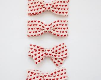 Valentine Heart Pigtail Sets