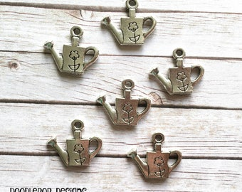 6 watering can charms - Gardening charms - Garden charms - Gardener charms - Jewellery making supplies - UK charms - UK supplies - Etsy UK