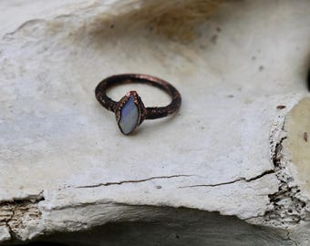 Copper Opal Ring Size 5 3/4