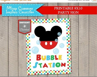 SALE INSTANT DOWNLOAD Printable Mouse Clubhouse 8x10 Bubble Station Party Sign / Clubhouse Collection / Item #1694