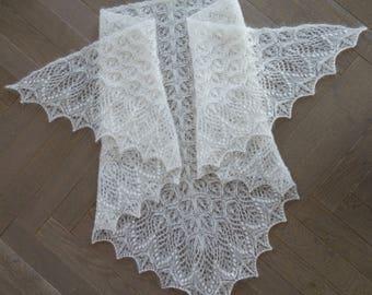 """Shawl """"Echo Flower"""", handmade, shawl, knit"""