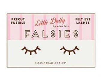 Little Dolly FALSIES fusible felt eyelashes by Elea Lutz for Penny Rose Designs - 3 pairs