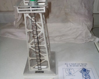 Lionel postwar electric trains, Rotary Beacon tower 394,tested and works
