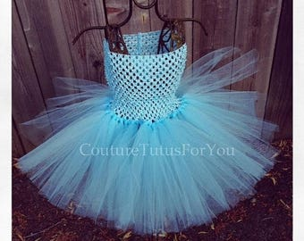 10% OFF HALLOWEEN SALE Light Blue Love Tutu Skirt, light blue skirt, light blue tulle skirt, light blue tutu, tutus for children, tutu, newb