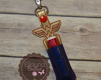 Lip Balm, Chapstick, Flash Drive, USB Drive Holder - Wonder Woman
