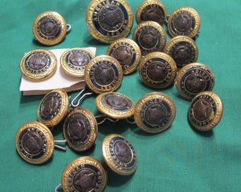 20 Vintage Waterbury Superior American Legion Buttons All Marked