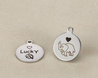 5pcs 18mm stainless steel Elephant Charms Pendants-animals charm