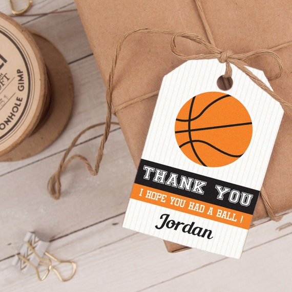 Basketball Favor Tag INSTANT DOWNLOAD