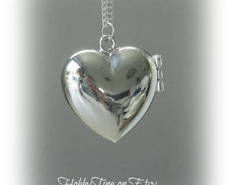 nickel free necklace heart locket chain - heart pendant