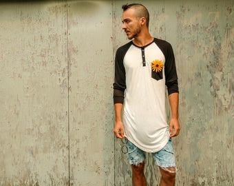 Soft Bamboo Jersey Baseball Style Long fit Shirt