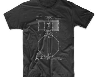 Slingerland Snare Drum Patent T Shirt, Gibson Drum Art, Drummer Gift, Percussion, Drum Shirt, PP0147
