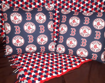Pillows (Red Sox) and Crocheted Afghan