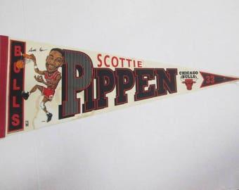 Vintage Wincraft Chicago Bulls Scottie Pippen #33 NBA Pennant