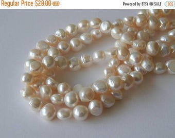 SALE 10mm Flat Round Pearls