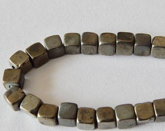 SALE Pyrite Cube Beads 8mm